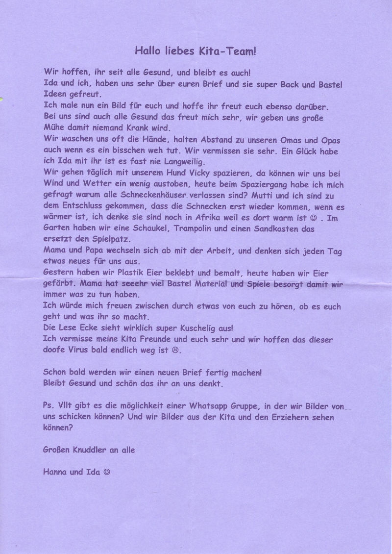 Brief zum ausfüllen whatsapp WhatsApp Kettenbriefe